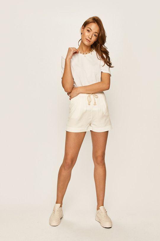 Answear - Pantaloni scurti alb
