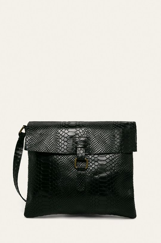 negru Answear - Geanta de piele De femei