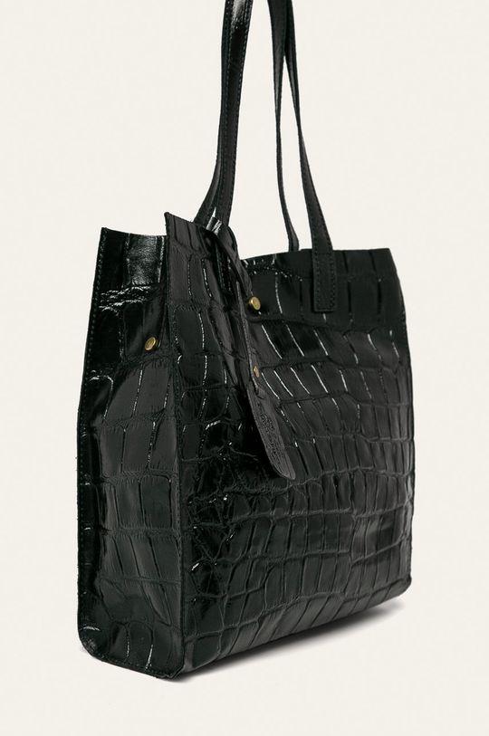Answear - Geanta de piele negru