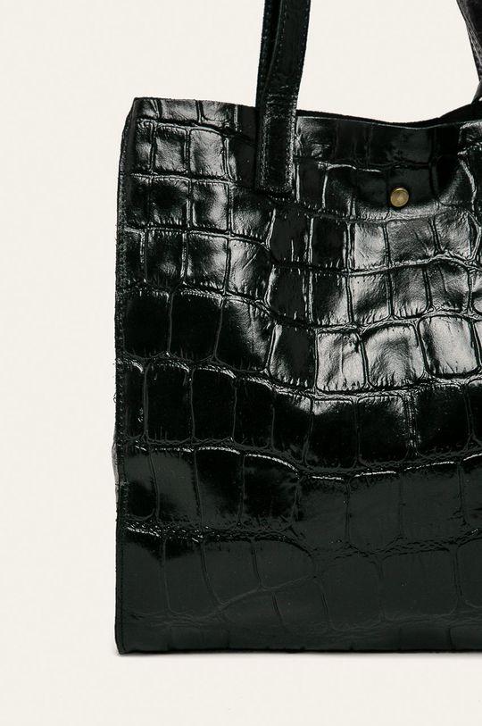 negru Answear - Geanta de piele