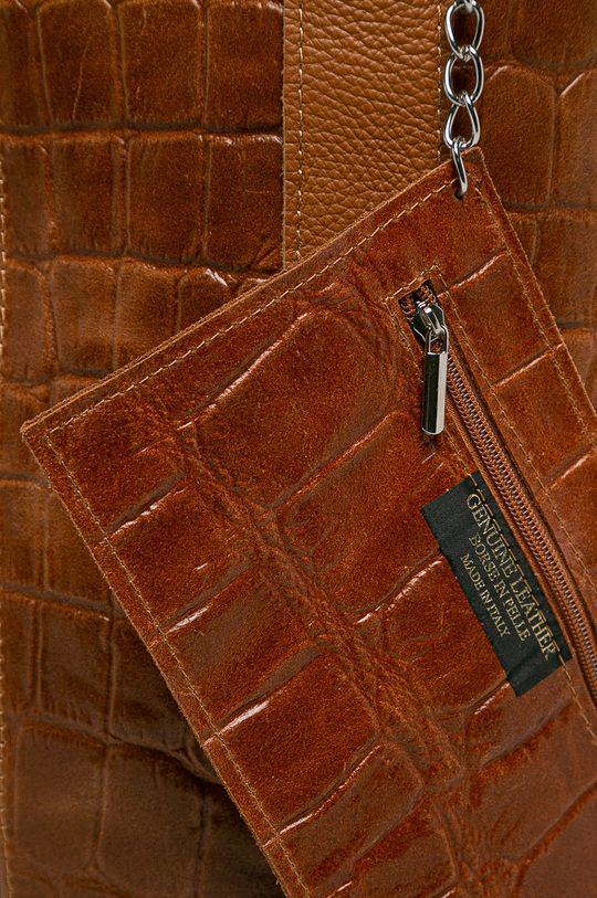 Answear - Кожена чанта кафяв
