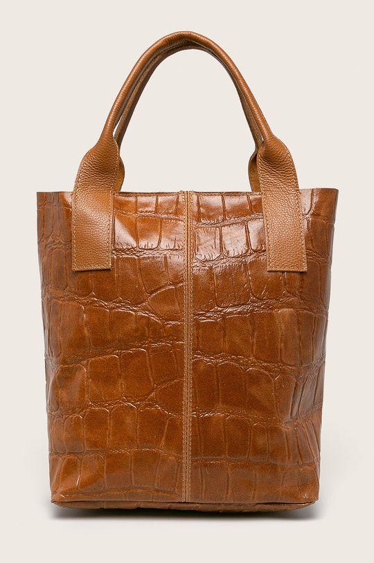 кафяв Answear - Кожена чанта