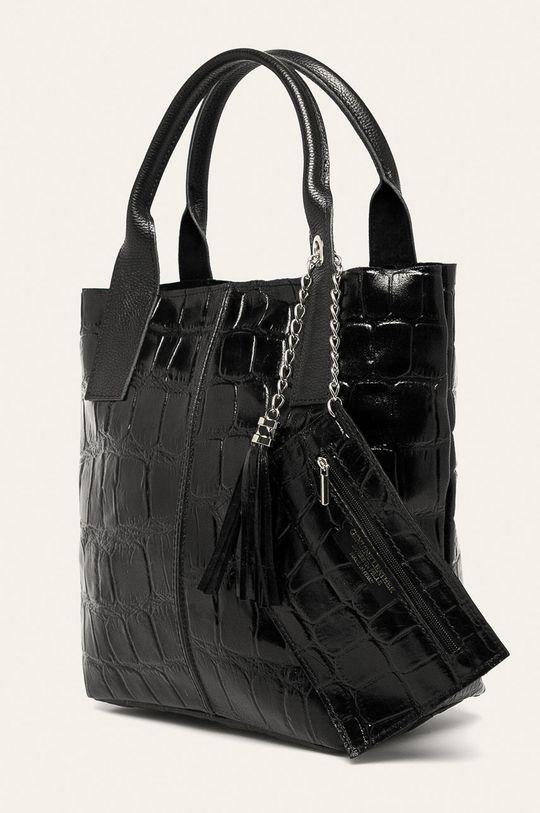 Answear - Кожена чанта черен