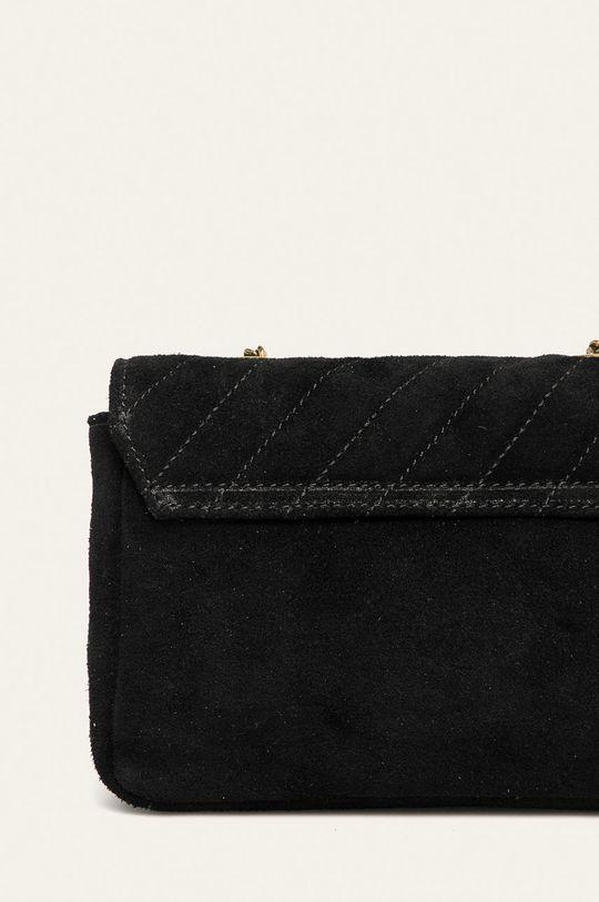 черен Answear - Кожена чанта