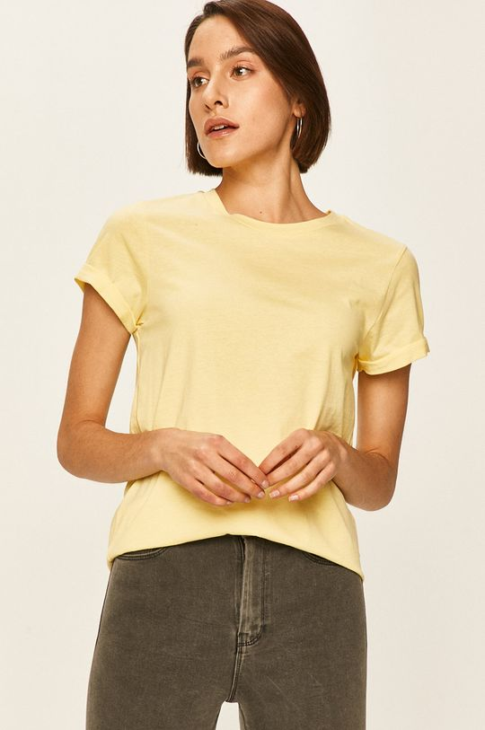 galben Answear - Tricou De femei