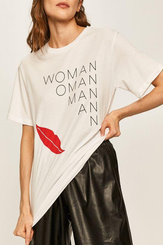 бял Answear - Тениска Жіночий
