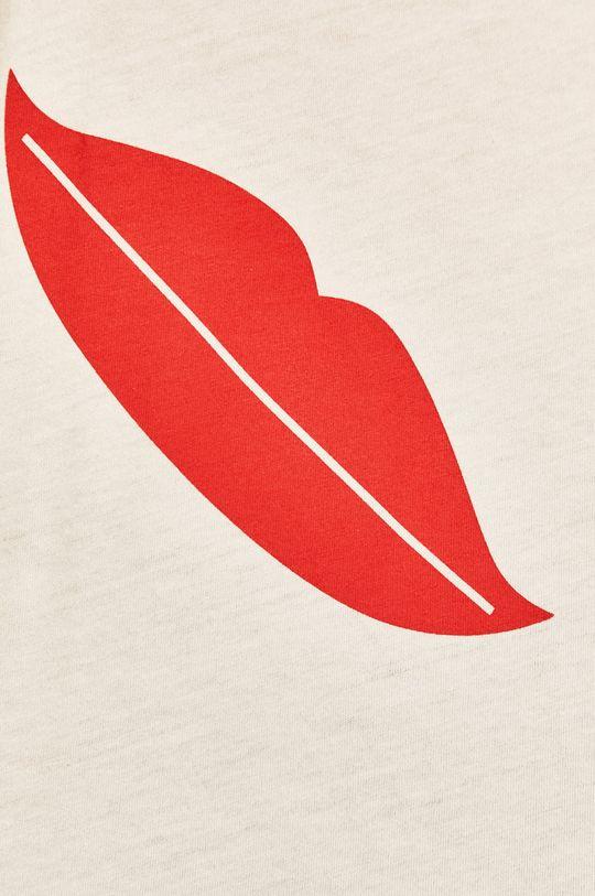 бял Answear - Тениска