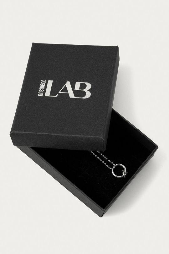 srebrny Answear Lab - Naszyjnik srebrny Damski