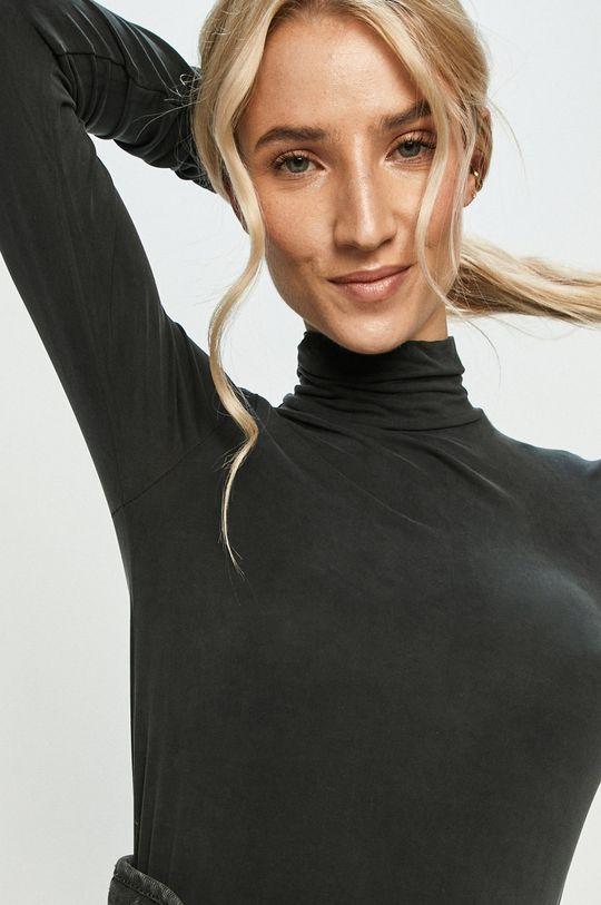 černá Answear Lab - Tričko s dlouhým rukávem Dámský