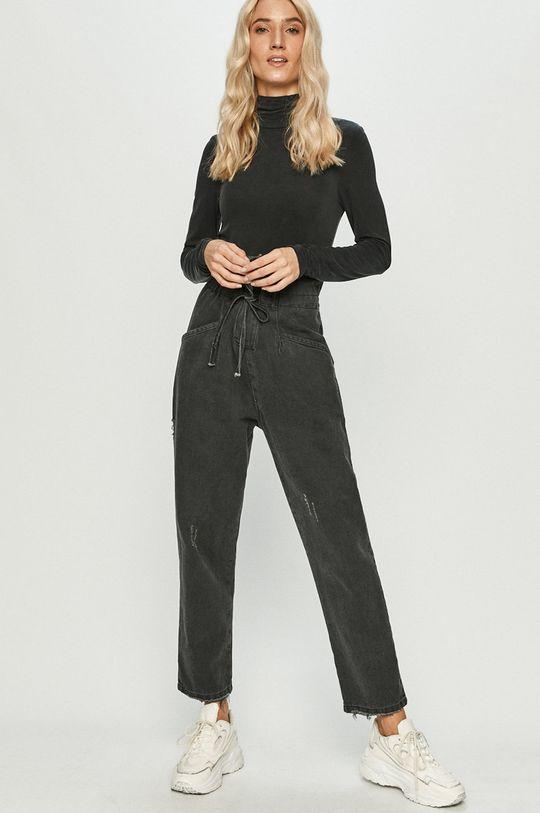 Answear Lab - Tričko s dlouhým rukávem černá