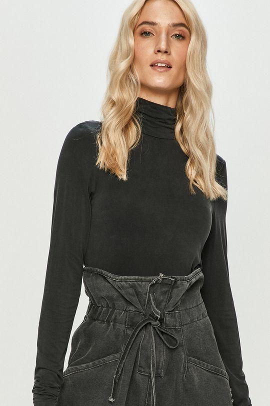 černá Answear Lab - Tričko s dlouhým rukávem