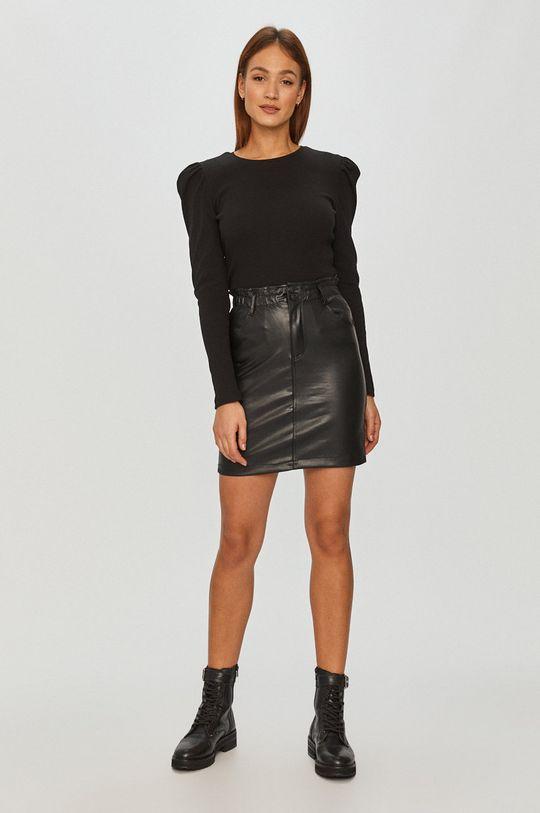 Answear Lab - Tričko s dlhým rukávom čierna