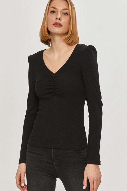 čierna Answear Lab - Tričko s dlhým rukávom