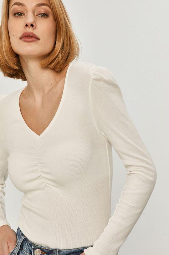 biela Answear Lab - Tričko s dlhým rukávom