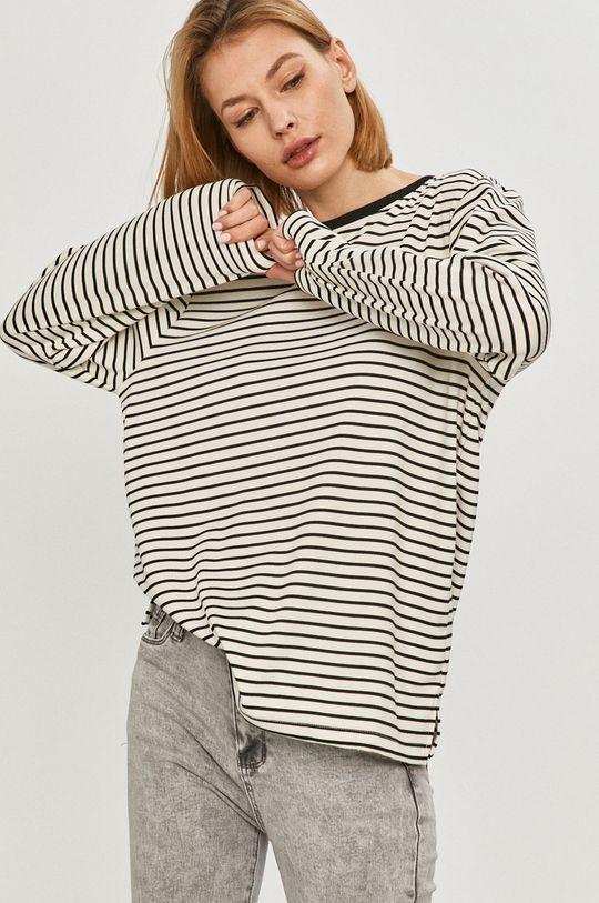 bílá Answear Lab - Tričko s dlouhým rukávem Dámský