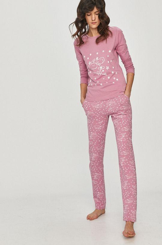 roz Answear Lab - Pijama De femei
