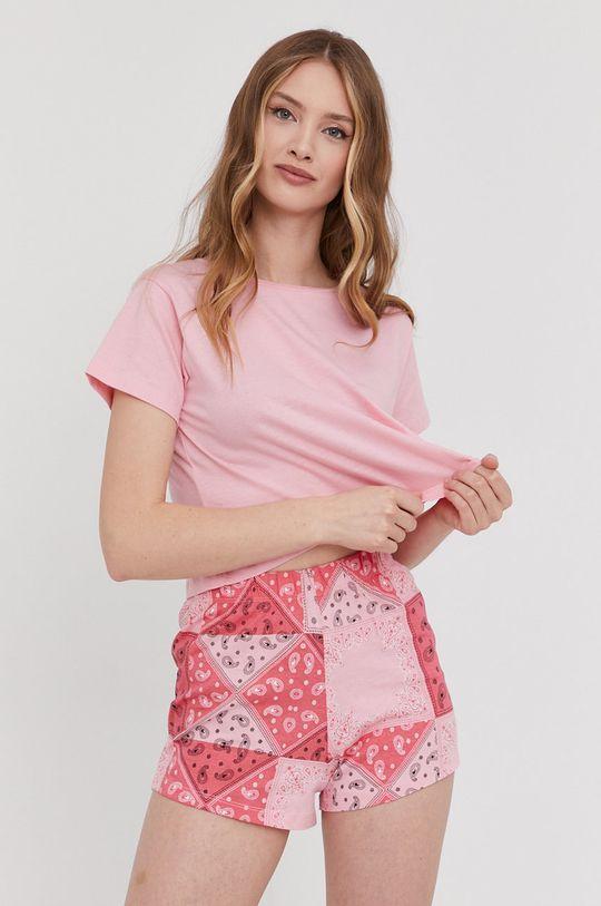 różowy Answear Lab - Piżama Damski