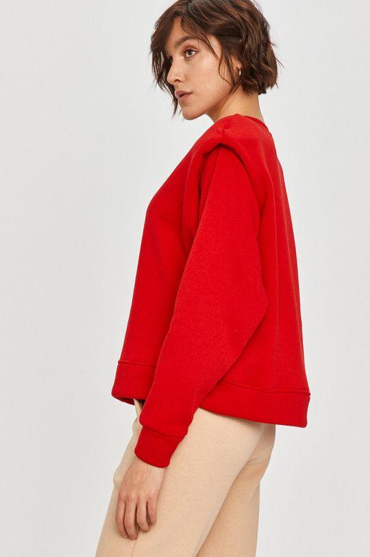 červená Answear Lab - Bavlněná mikina Dámský