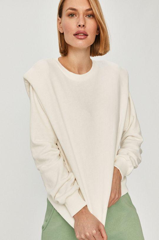 biela Answear Lab - Bavlnená mikina Dámsky