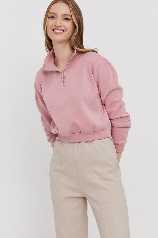 różowy Answear Lab - Bluza
