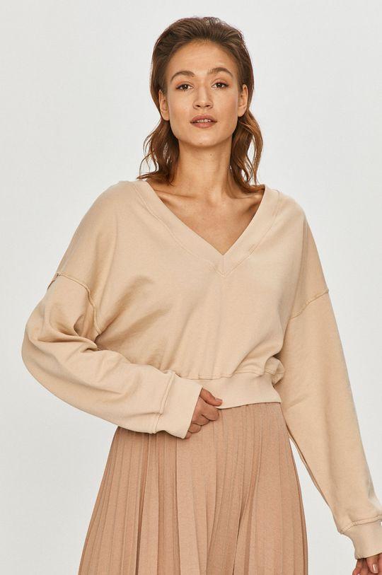 beżowy Answear Lab - Bluza bawełniana Damski