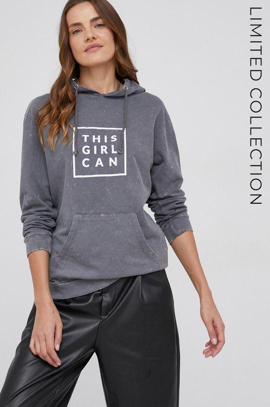 szary Bluza bawełniana answear.LAB X kolekcja limitowana GIRL POWER Damski