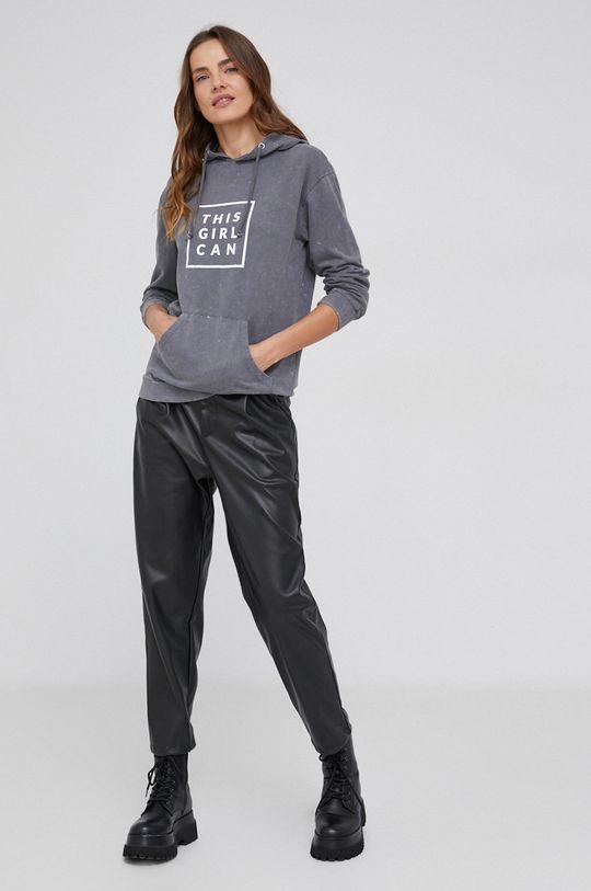 Bluza bawełniana answear.LAB X kolekcja limitowana GIRL POWER szary