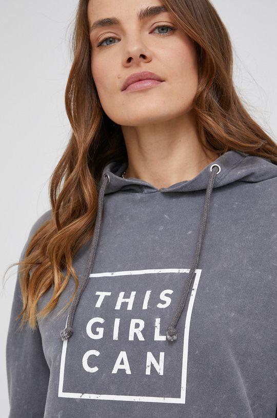 szary Bluza bawełniana answear.LAB X kolekcja limitowana GIRL POWER