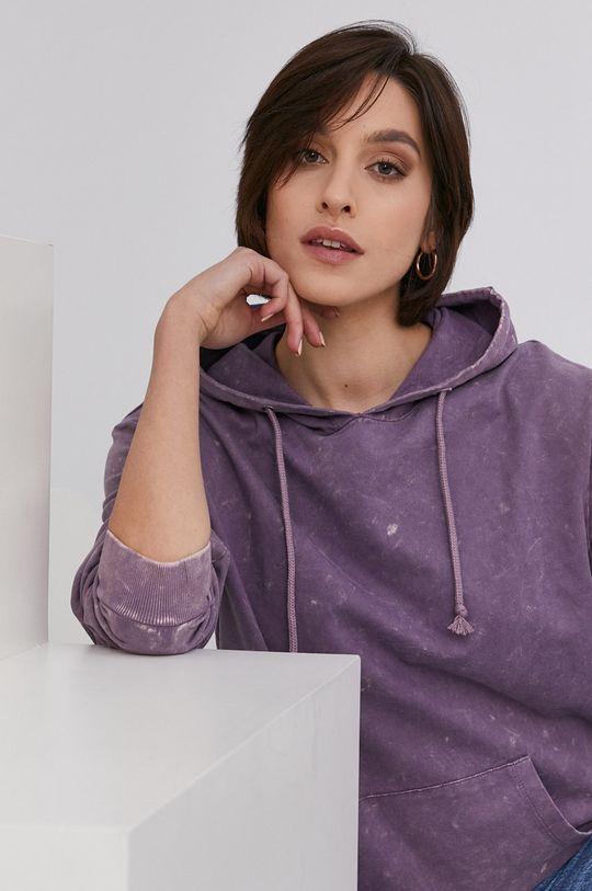 różowy Answear Lab - Bluza bawełniana Damski