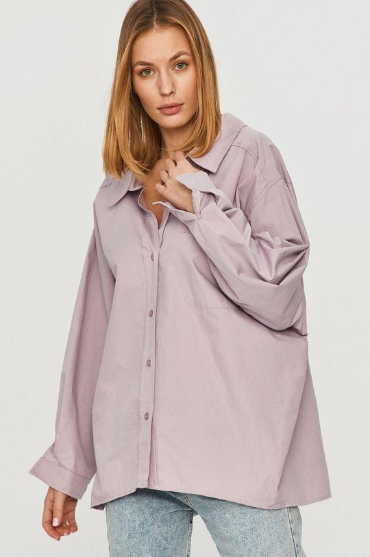 fialová Answear Lab - Bavlněné tričko Dámský