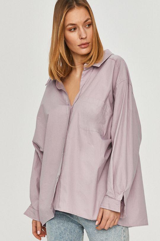 fialová Answear Lab - Bavlněné tričko