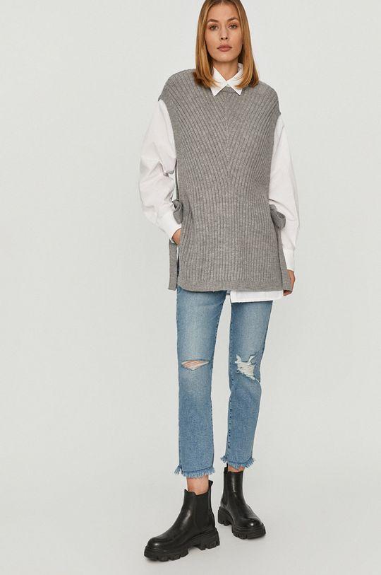 Answear Lab - Košeľa so svetrom sivá