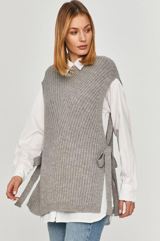 sivá Answear Lab - Košeľa so svetrom