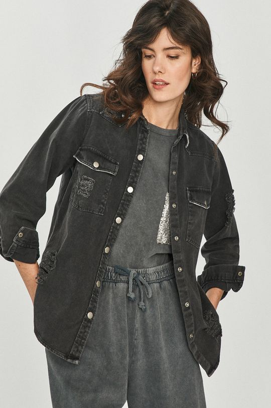 Answear Lab - Camasa jeans negru