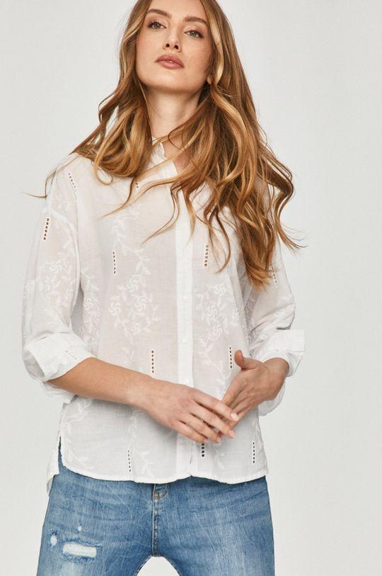 bílá Answear Lab - Bavlněné tričko Dámský