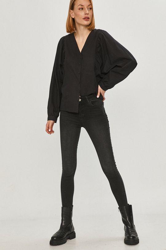 Answear Lab - Bavlněné tričko černá