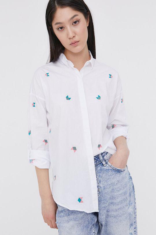 bílá Answear Lab - Bavlněná košile Dámský