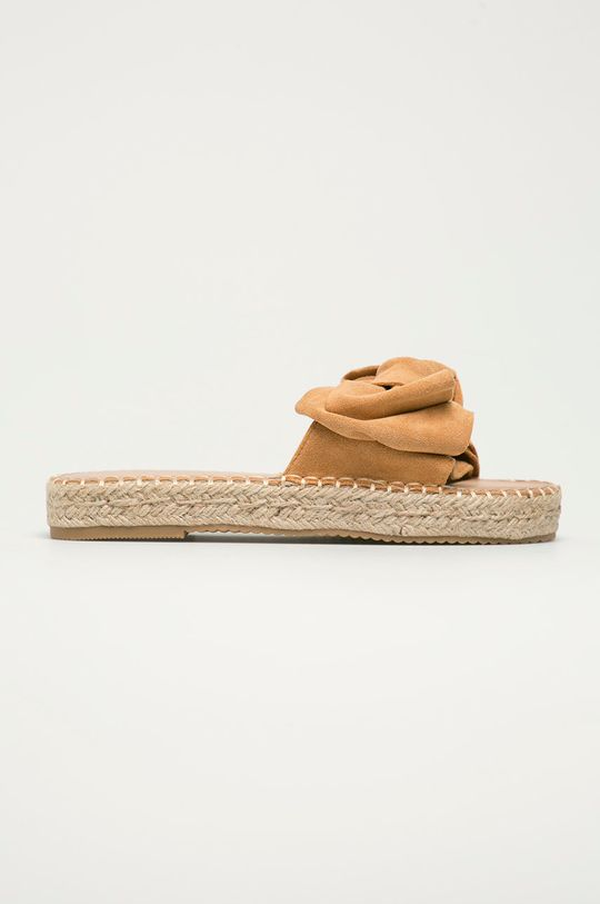 zlatohnedá Answear Lab - Šľapky Sweet Shoes Dámsky