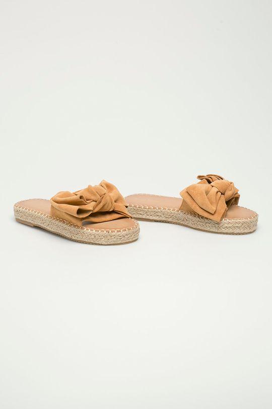 Answear Lab - Šľapky Sweet Shoes zlatohnedá