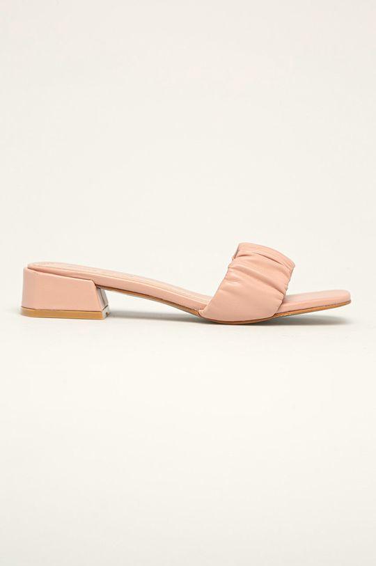 różowy Answear Lab - Klapki Sweet Shoes Damski