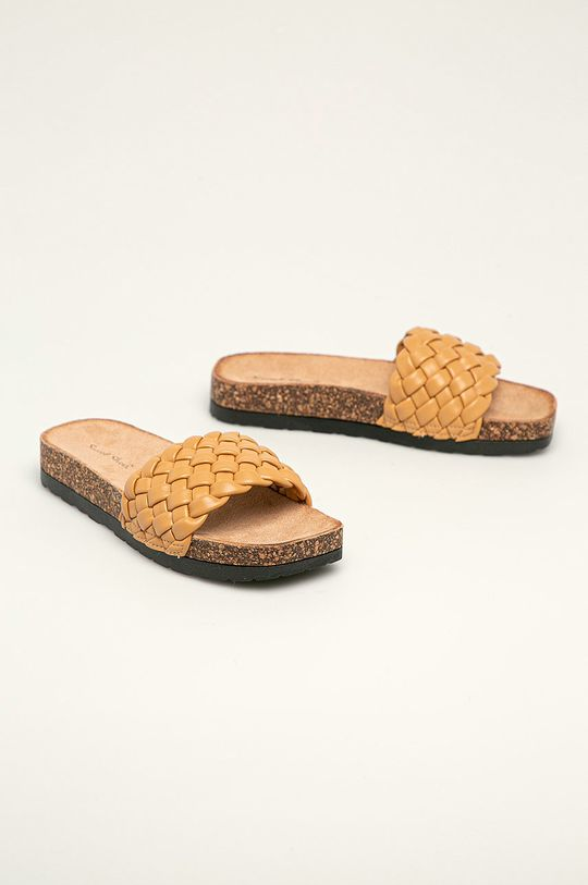 Answear Lab - Pantofle Sweet Shoes zlatohnědá