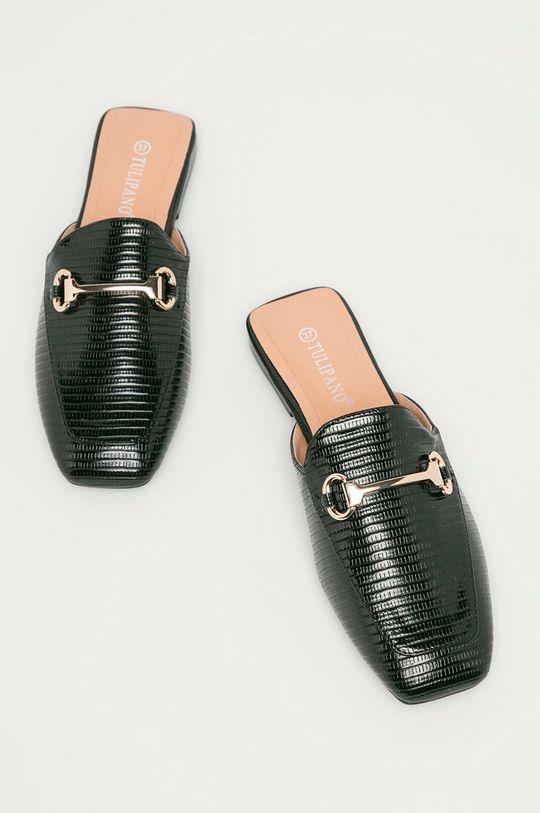černá Answear Lab - Pantofle Tulipano
