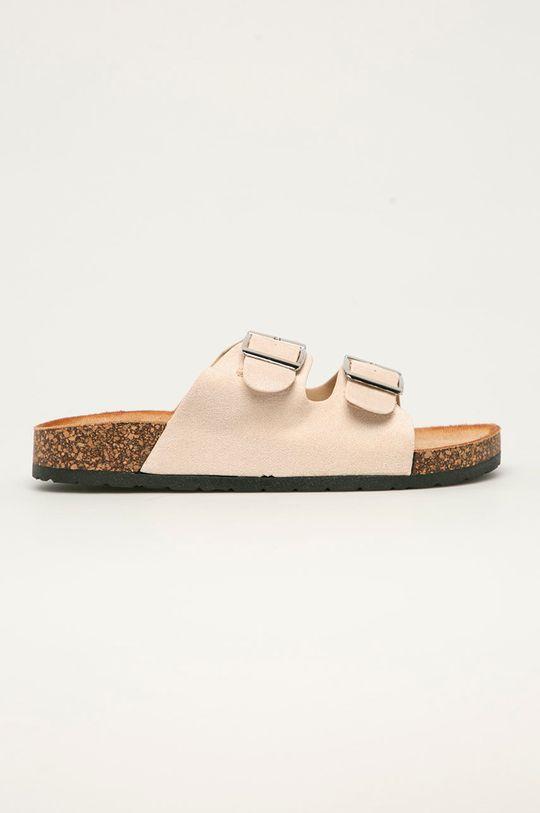 béžová Answear Lab - Pantofle Ideal Shoes Dámský