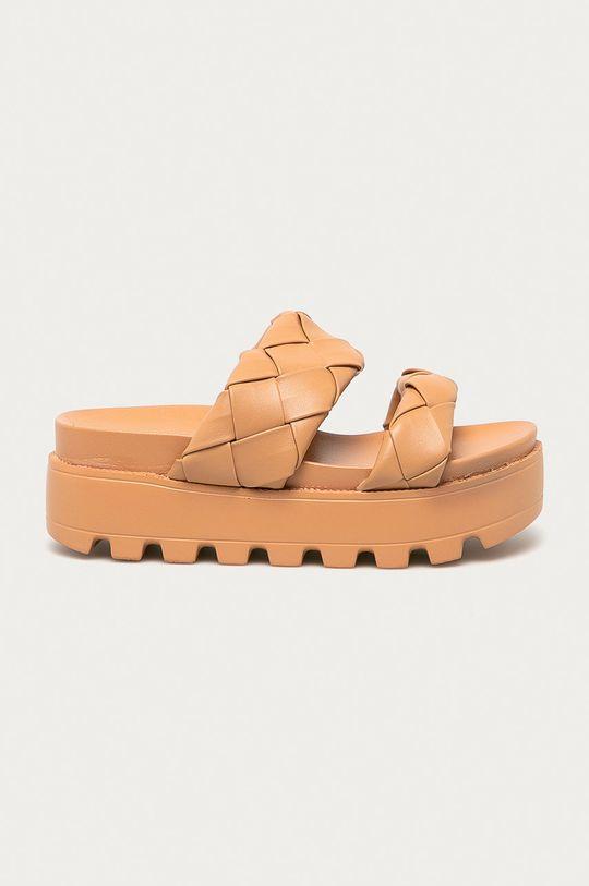 zlatohnědá Answear Lab - Pantofle Moda Plus Dámský