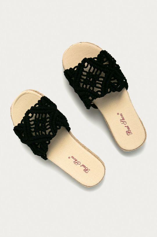Answear Lab - Šľapky Best Shoes čierna