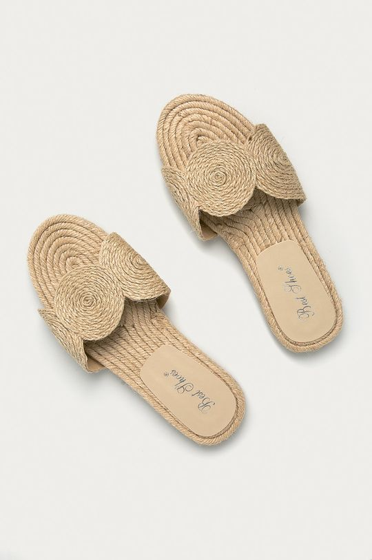 Answear Lab - Pantofle Best Shoes béžová
