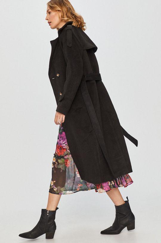 czarny Answear Lab - Płaszcz z domieszką wełny Damski