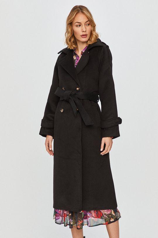 Answear Lab - Płaszcz z domieszką wełny czarny
