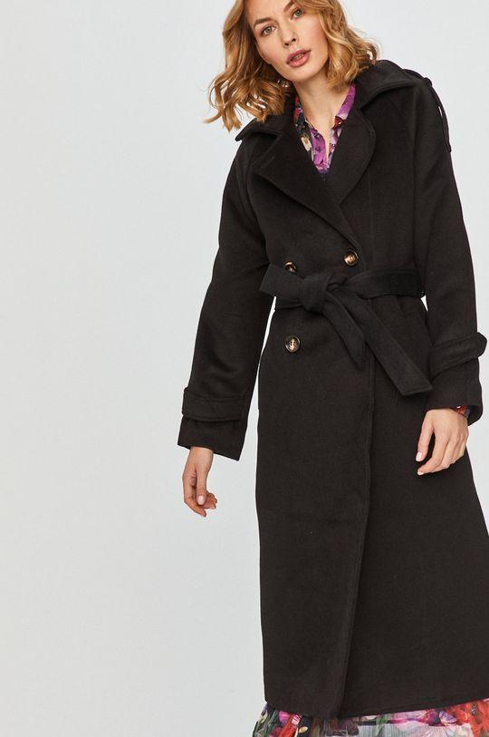 czarny Answear Lab - Płaszcz z domieszką wełny