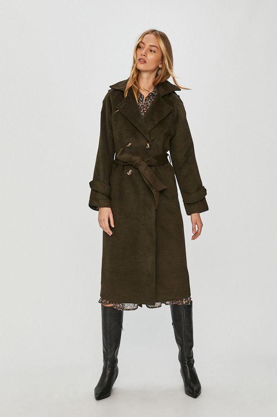 zelená Answear Lab - Kabát s vlněnou směsí s vlněnou směsí s vlněnou směsí s vlněnou směsí